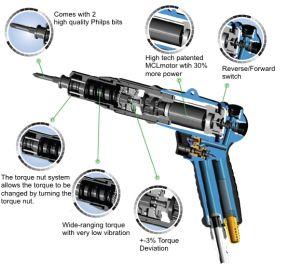 Air pistol grip series torque screwdriver for assembly jobs