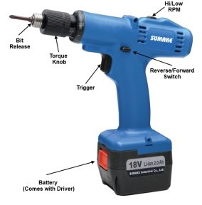Battery torque screwdriver for assembly jobs
